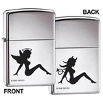 Zippo Lighter - Trucker Angel Devil HP Chrome - ZCI004996