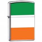 Zippo Lighter - Flag of Ireland High Polish Chrome - ZCI007984