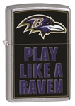 Zippo Lighter - 2019 NFL Baltimore Ravens Street Chrome - ZCI409097