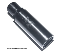 2 Inch Barrel Extender Adapter: 5/8-24 to 5/8-24