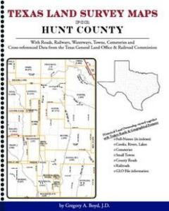 Hunt County Texas Land Survey Maps