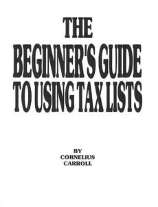 Beginners Guide to Using Tax Lists
