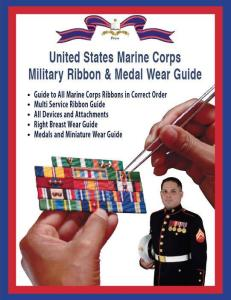 US Marine Corps Military Ribbon Medal Wear Guide