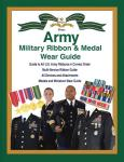 Army Military Ribbon & Medal Wear Guide