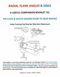 Radial Flank Angles & Sines Clock & Watch Makers Guide to Gear Making