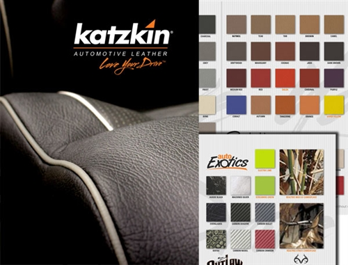 Katzkin Leather Auto Upholstery Samples Book