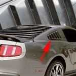 Ford Mustang (Base / GT Model) ABS Molded Rear QTR Unpainted Window Louver Set, 2010 - 2014