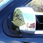 Chevrolet Silverado Chrome Mirror Covers (Full), 2007, 2008, 2009, 2010, 2011, 2012, 2013