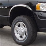 Dodge Ram Chrome Half Wheel Well Fender Trim, 4pc  2002, 2003, 2004, 2005, 2006, 2007, 2008