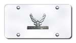 Chrome License Plate - US Airforce