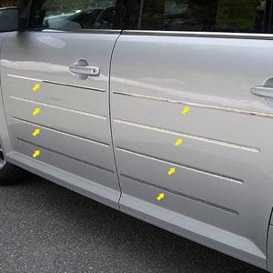 Ford Flex Chrome Door Accent Trim 2009 2010 2011 2012