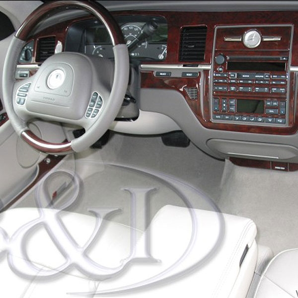 lincoln town car wood dash kit