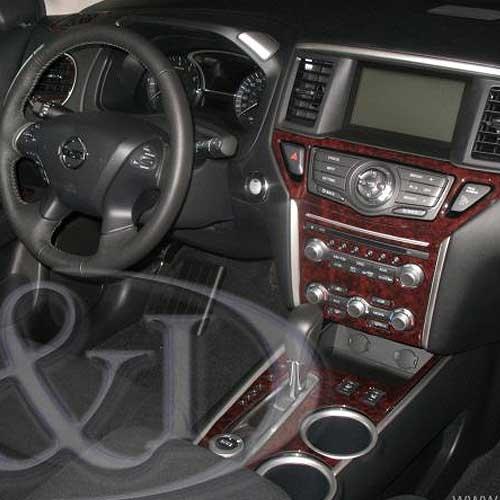 Fits Nissan Xterra 2012 W//Single Disc Radio Large Wood Dash Trim Kit
