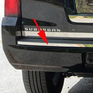 Chevrolet Suburban Chrome Bumper Insert Trim 2015 2016