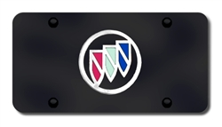 Buick Logo License Plate - Black and Chrome