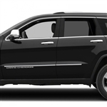 Jeep Grand Cherokee Chrome Body Side Moldings, 2014, 2015, 2016, 2017, 2018, 2019
