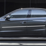 Hyundai Sonata Chrome Body Side Moldings, 2020, 2021
