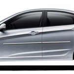 Hyundai Accent Chrome Body Side Moldings, 2012, 2013, 2014, 2015, 2016, 2017
