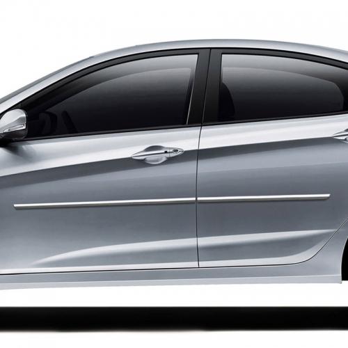 Hyundai Accent Chrome Body Side Moldings 2012 2013 2014