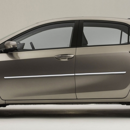 Toyota Corolla Chrome Body Side Moldings 2014 2015 2016 2017 2018 2019 Shopsar Com