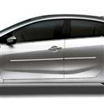 Kia Forte Sedan Chrome Body Side Moldings, 2014, 2015, 2016, 2017, 2018, 2019,2020