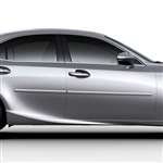 Lexus IS Chrome Body Side Moldings, 2014, 2015, 2016, 2017, 2018, 2019, 2020