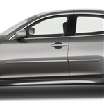 Infiniti Q70 Chrome Body Side Moldings, 2011, 2012, 2013, 2014, 2015, 2016, 2017, 2018, 2019