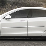 Tesla S Chrome Body Side Moldings, 2012, 2013, 2014, 2015, 2016, 2017, 2018, 2019, 2020