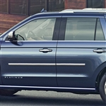 Ford Expedition Chrome Body Side Moldings, 2018, 2019