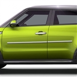 Kia Soul Chrome Body Side Moldings, 2014, 2015, 2016, 2017, 2018, 2019
