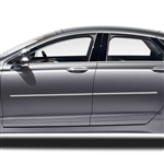 Lincoln MKZ Chrome Body Side Moldings, 2013, 2014, 2015, 2016, 2017, 2018, 2019, 2020