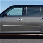 Ford Flex Chrome Body Side Moldings, 2009, 2010, 2011, 2012, 2012, 2013, 2014, 2015, 2016, 2017, 2018, 2019