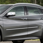 Infiniti QX30 Chrome Body Side Moldings, 2017, 2018