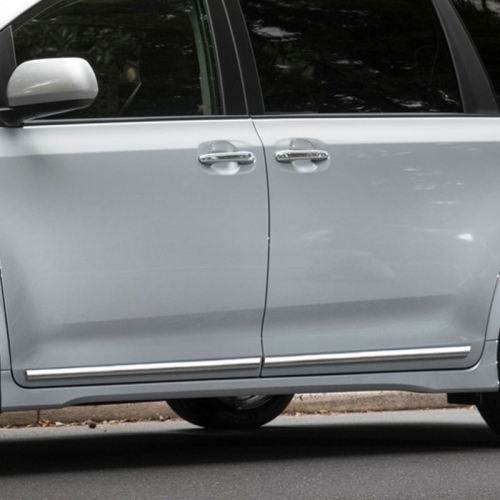 Toyota Sienna Lower Door Chrome Body Side Moldings 2011 2012 2013 2014 2015 2016 2017 2018 2019 2020 Shopsar Com