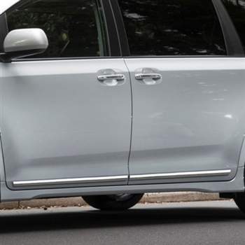 Toyota Sienna Lower Door Chrome Body Side Moldings, 2011, 2012, 2013, 2014, 2015, 2016, 2017, 2018, 2019, 2020