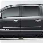 Nissan Titan Chrome Body Side Moldings, 2016, 2017, 2018, 2019, 2020, 2021