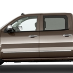 GMC Sierra Chrome Body Side Moldings, 2014, 2015, 2016, 2017