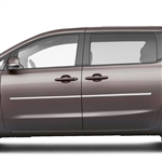 Kia Sedona Chrome Body Side Moldings, 2015, 2016, 2017, 2018, 2019, 2020