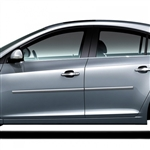 Chevrolet Cruze Chrome Body Side Moldings, 2011, 2012, 2013, 2014, 2015