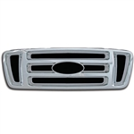 Ford F-150 XL, STX, FX4 Chrome Grille Overlay, 2004, 2005, 2006, 2007, 2008