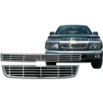 Chevrolet Colorado Chrome Grille Overlay, 2004, 2005, 2006, 2007, 2008, 2009, 2010, 2011, 2012