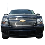 Chevrolet Tahoe Chrome 'Bar' Style Grille Overlay, 2007, 2008, 2009, 2010, 2011, 2012, 2013, 2014