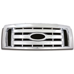 Ford F150 (XL, STX, FX4) Chrome Grille Overlay, 2009, 2010, 2011, 2012