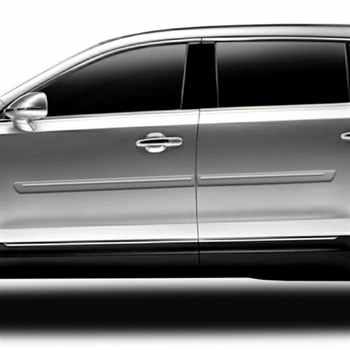 Lincoln MKT Painted Body Side Moldings with chrome inserts, 2010, 2011, 2012, 2013, 2014, 2015, 2016, 2017, 2018, 2019, 2020