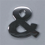 Premium 3D Chrome Individual Letters & Numbers - Ampersand