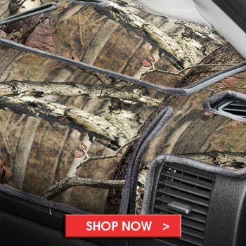 Camo Aftermarket Dash Covers - Mossy Oak, RealTree, and more!
