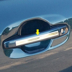 Toyota Sienna Chrome Door Handle Accent Trim, 2011, 2012, 2013, 2014, 2015, 2016, 2017, 2018, 2019, 2020