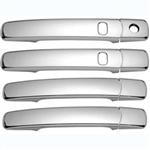 Nissan Rogue Chrome Door Handle Covers (w/ smart key), 2008, 2009, 2010, 2011, 2012, 2013