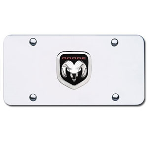 Dodge Ram Head Chrome License Plate Shopsar Com