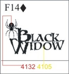 Katzkin Embroidery - Black Widow
